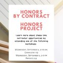 HBC/Honors Project Workshops